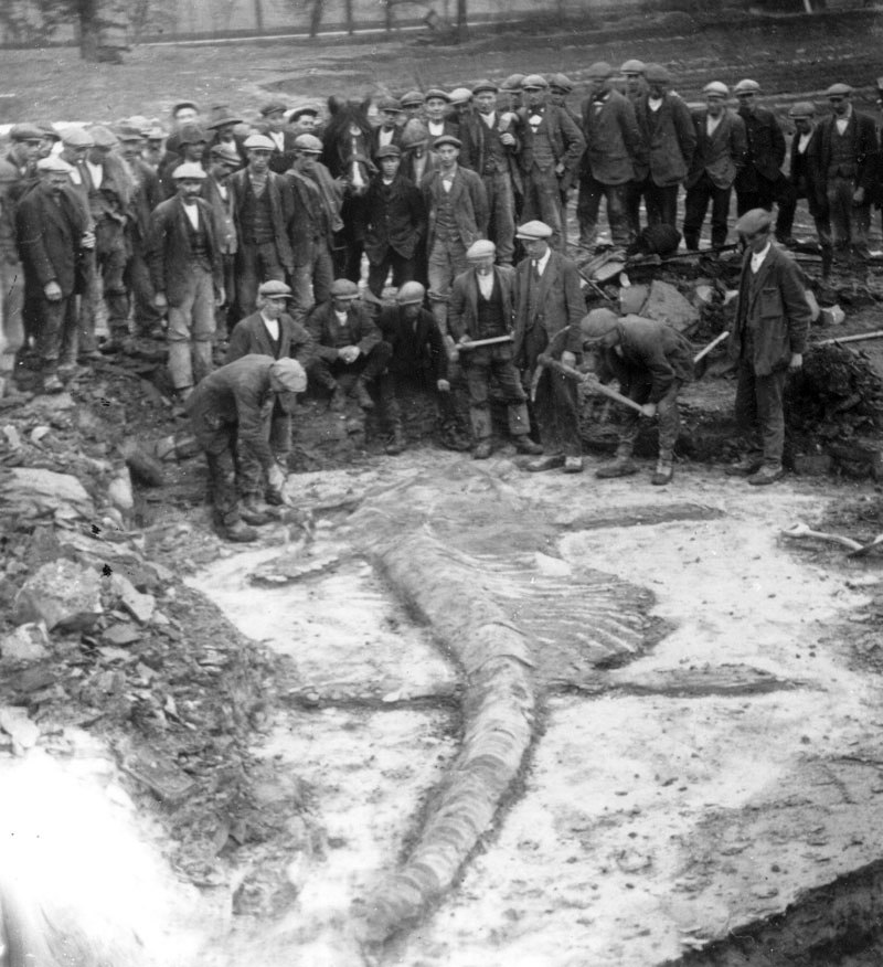 Harbury Quarry and lchthyosaur - 1928 WoW